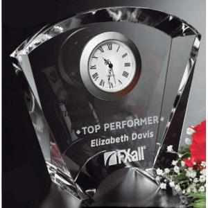 Vortex Optical Crystal Award Clock