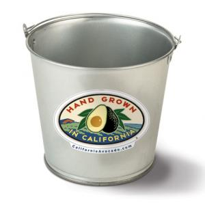 5-Quart Galvanized Pail with Full Color Decal