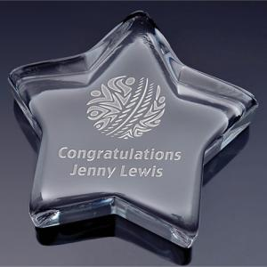 Deluxe Star Shaped Crystal Award