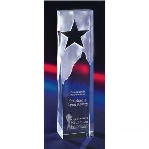 Standing Tower Crystal Award