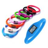 Digital Watch with Silicone Wristband
