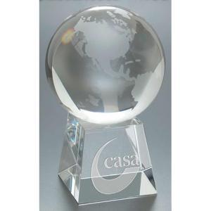 Crystal Round Globe Award