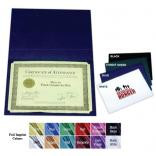 Leatherette Finish Certificate Holders