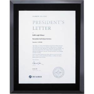 Beveled Edge Ebony Certificate Holder