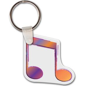 Music Note Shaped Key Tag