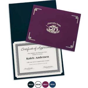 Linen Certificate Folder Holder