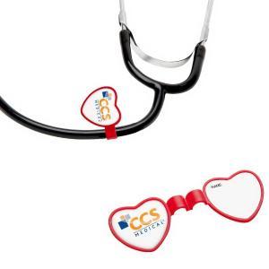 Stethoscope Heart ID Tag