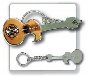 advertising guitar shaped bottle opener keychain with hd. Black Bedroom Furniture Sets. Home Design Ideas