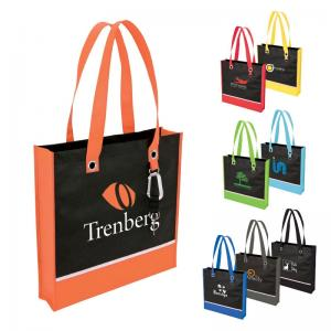Two Toned Shopping Tote Bag