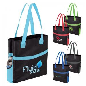 Shopper's Delight Tote Bag with Side Pockets
