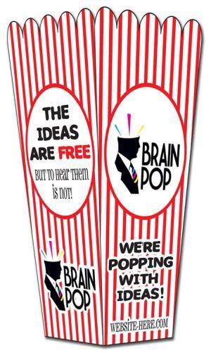 Coated Paper Popcorn Box