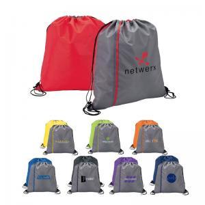 Sporty Two Tone Drawstring Bag