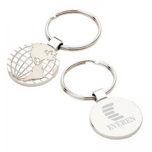 Round the World Silver Globe Key Tag