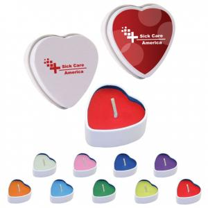 Colorful Heart Shaped Tin Soy Candles