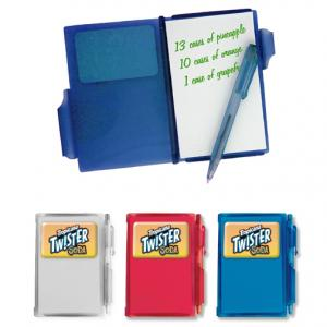 Translucent Mini Notebook with Pen