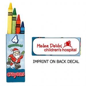 4 Pk. Christmas Theme Crayons