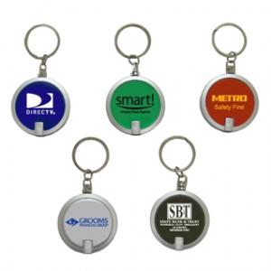 Econo Round LED Light Keychain