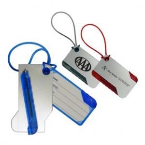 Luggage Tag w/ Silicon Strap and Pen