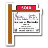 Real Estate Sold Sign Shaped Magnet