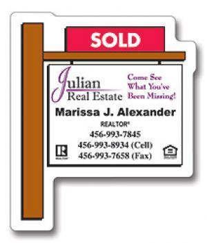 Real Estate Sold Sign Shaped Magnet