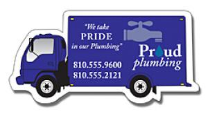 Delivery Truck Shaped Magnet