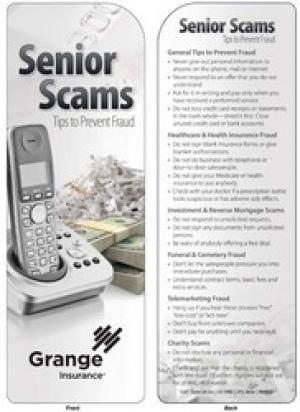 Senior Citizen Scams Bookmark