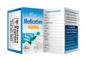 Medication Record Keeper Booklet