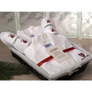 His & Hers Robe and Slippers Gift Basket