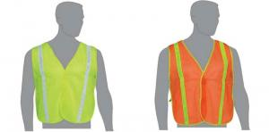 Mesh Safety Construction Vest with Reflective Stripes