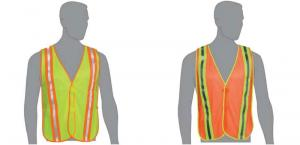 Mesh Safety Construction Vest with Performance Reflective Stripes
