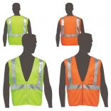 Class 2 Compliant Safety Vest with Inside Pockets