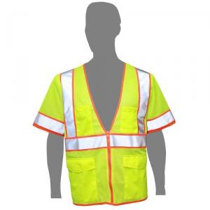 Class 2 Compliant Safety Vest with Reflective Sleeves