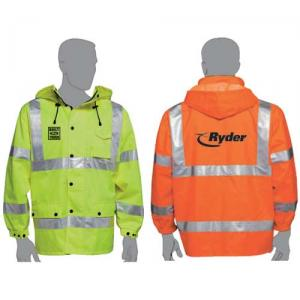 Safety Waterproof Windbreaker with Reflective Stripes