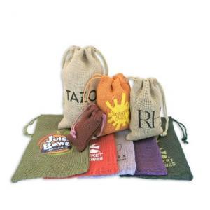 "6"" x 10"" Low Cost Colored Jute Drawstring Bag"
