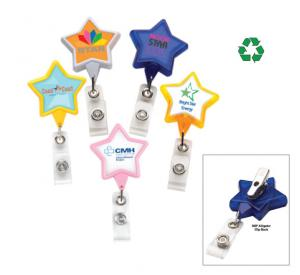 Star Shaped Badge Reel with Alligator Clip