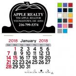 Apple Shaped Self-Adhesive Calendar