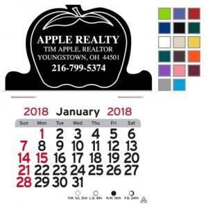 Apple Shaped Self-Adhesive Calendar