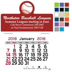 Baseball Self-Adhesive Calendar