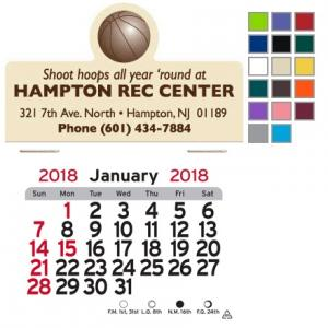 Basketball Self-Adhesive Calendar