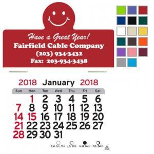 Smile Face Self-Adhesive Calendar
