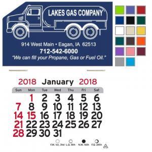 Propane Truck Self-Adhesive Calendar