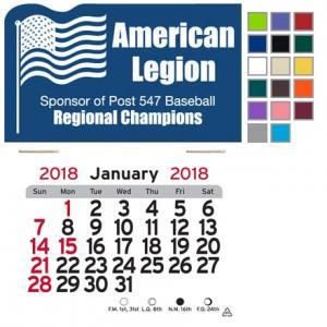 American Flag Self-Adhesive Calendar