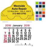 Car Shaped Self-Adhesive Calendar