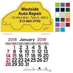 Car Shaped Self-Adhesive Calendar