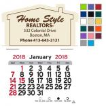 House Shaped Self-Adhesive Calendar