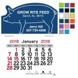 Pig Shaped Self-Adhesive Calendar