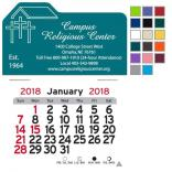 Church Shaped Self-Adhesive Calendar