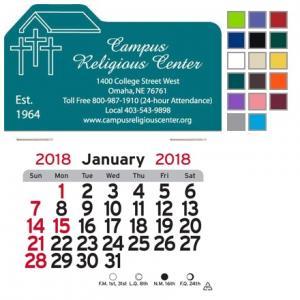 Church Shaped Self-Adhesive Calendar