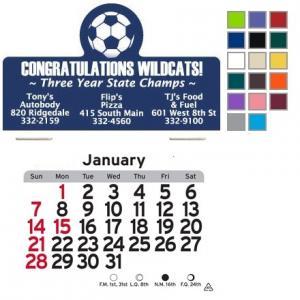 Soccer Themed Self-Adhesive Calendar
