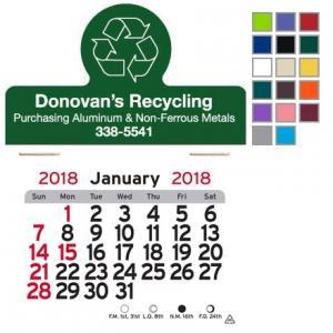 Recycling Themed Self-Adhesive Calendar